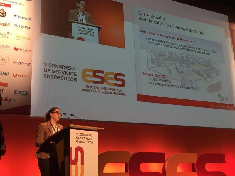 Rebi lleva a cabo su presentación de La Red de Calor de Soria en la quinta edición del Congreso ESES 2016
