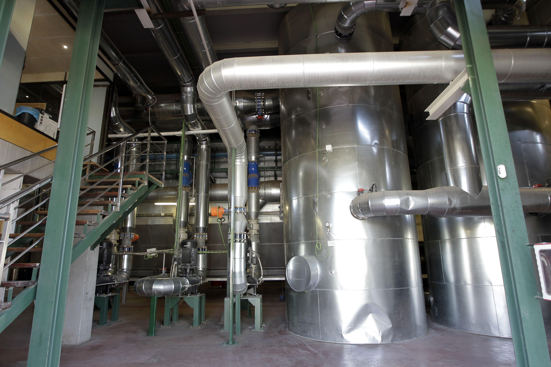 Interior de la central de Soria-1