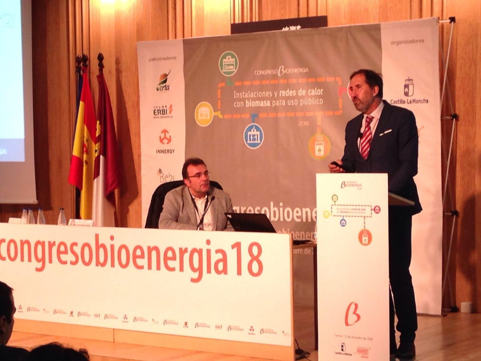 Alberto Gómez durante la ponencia en el Congreso de Bioenergía en Cuenca