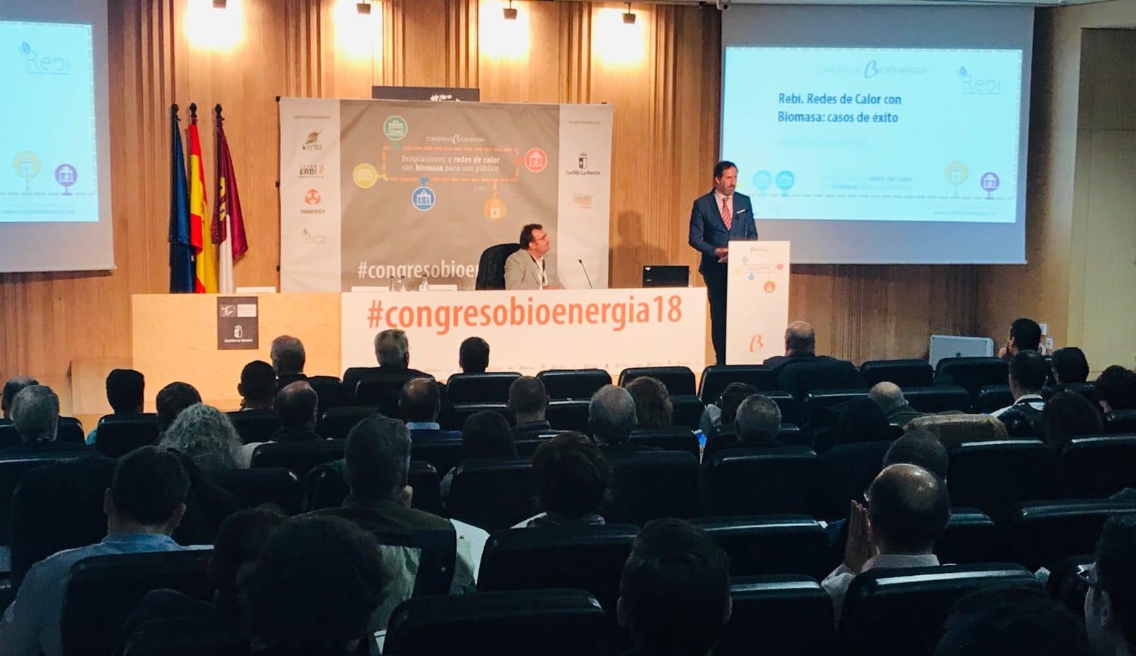 Rebi expone sus casos de éxito de Redes de Calor en el Congreso Nacional de Bionenergía celebrado en Cuenca