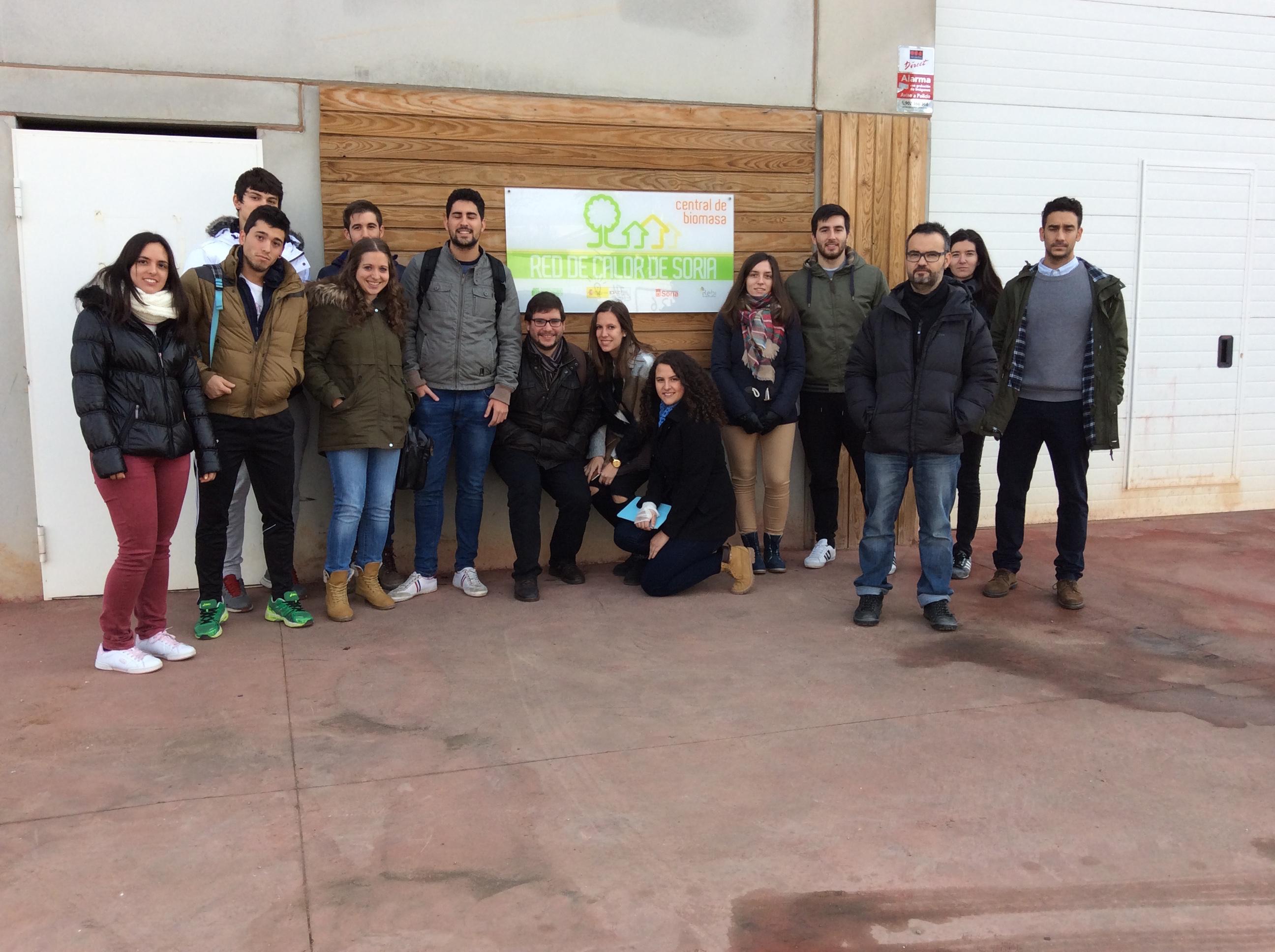 Los alumnos del Grado de Agroenergéticas del Campus Duques de Soria visitan la central térmica en El Mirón