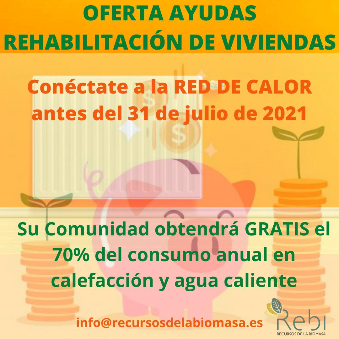Los vecinos que se conecten a las Red de Calor de REBI antes del 31 de julio se beneficiarán de las ayudas de rehabilitación energética