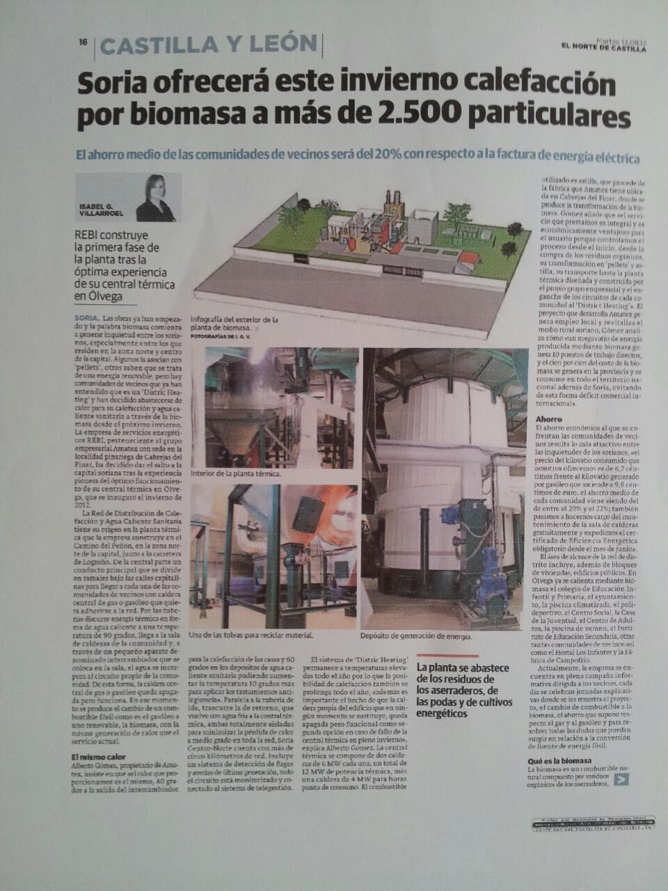 Reportaje El Norte de Castilla, 13 de agosto de 2013