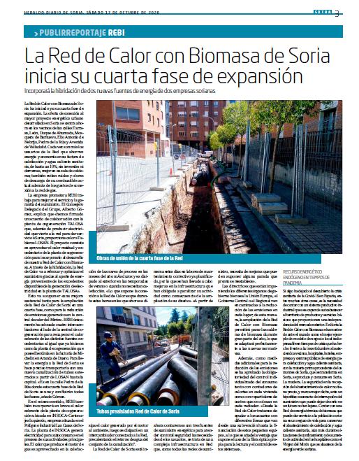La Red de Calor de Soria inicia su cuarta fase de expansión