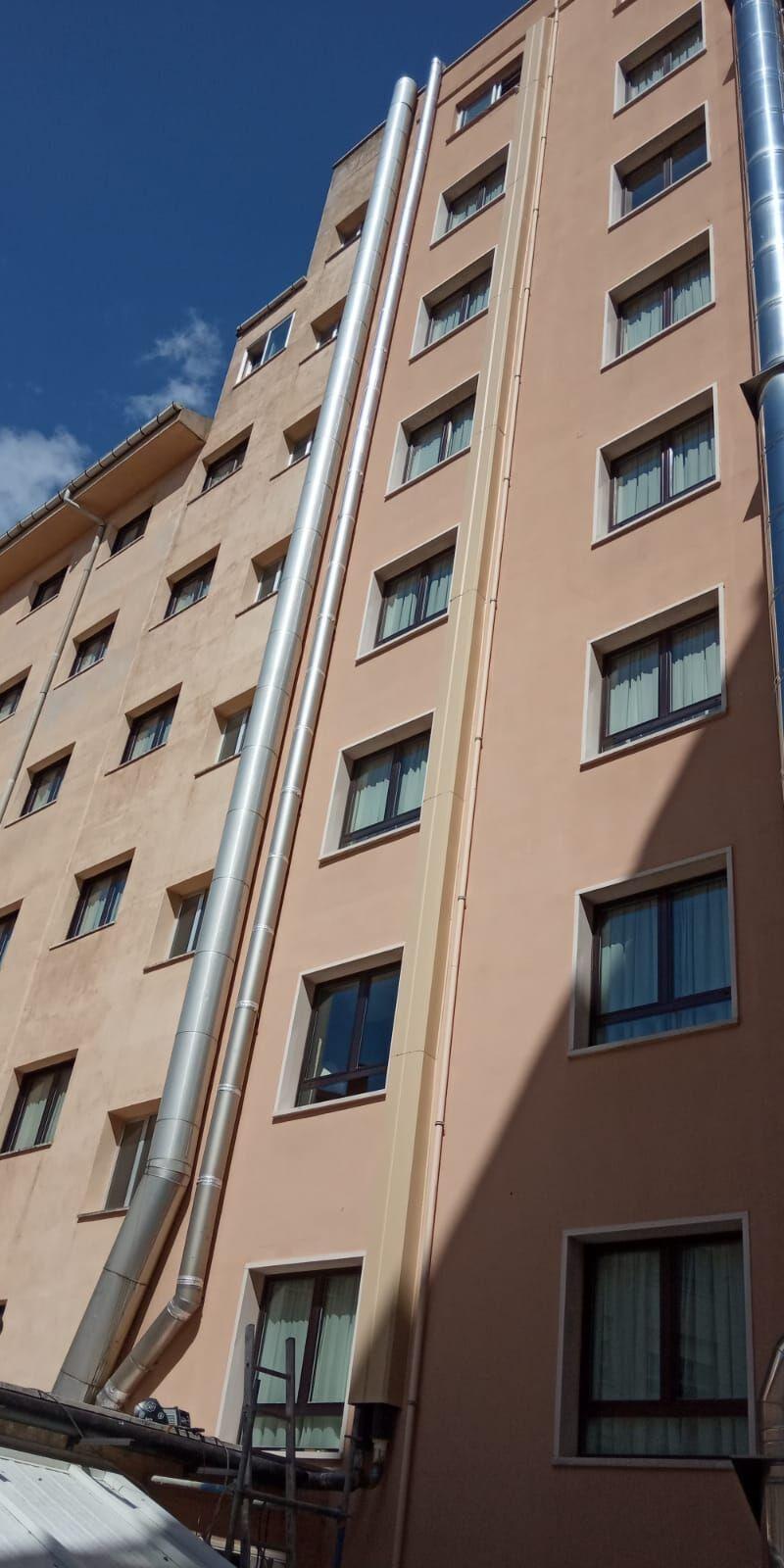 Conexión Hotel Alfonso VIII de Soria a la Red de Calor con Biomasa