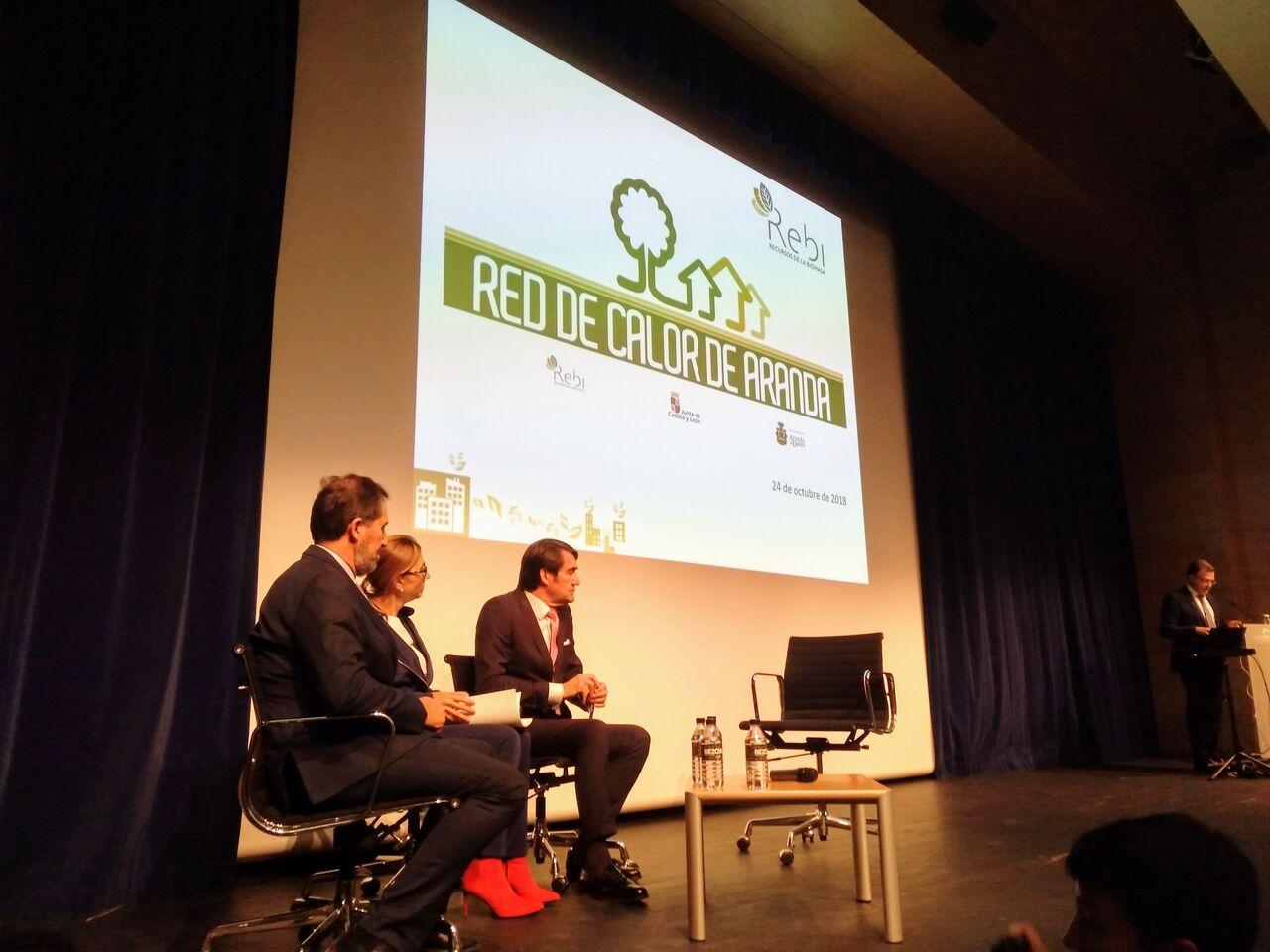 Presentación de la Red de Calor de Aranda en la Fundación Caja de Burgos