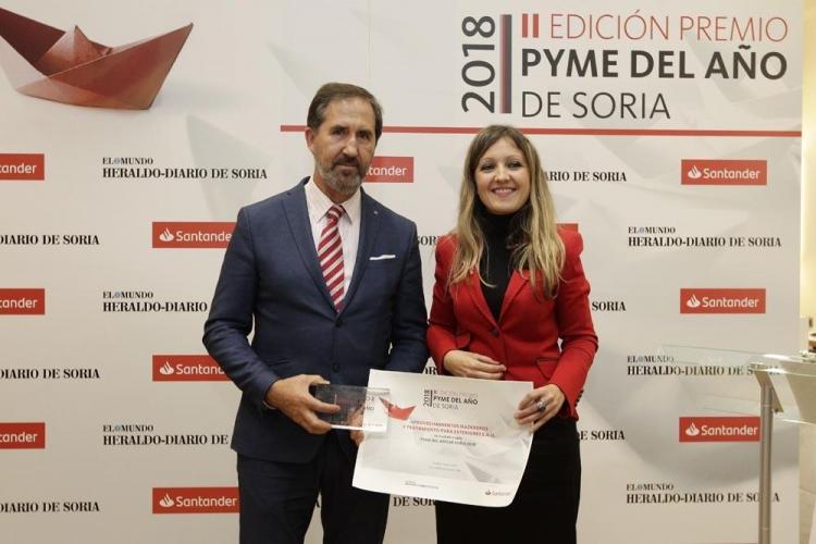 REBI SLU: La empresa Amatex, empresa madre del Grupo, recibe el galardón 'Premio Pyme del Año del Santander y la Cámara de España'