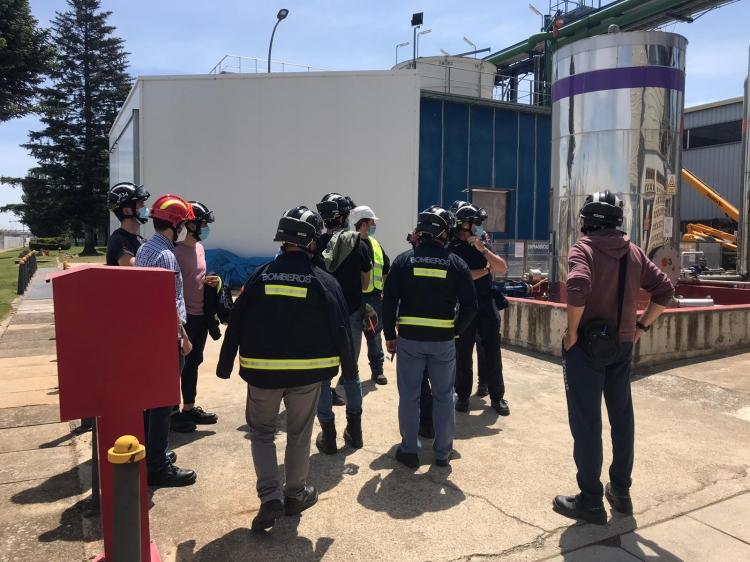 REBI SLU: Los bomberos de Aranda conocen el funcionamiento de la central de la Red de Calor