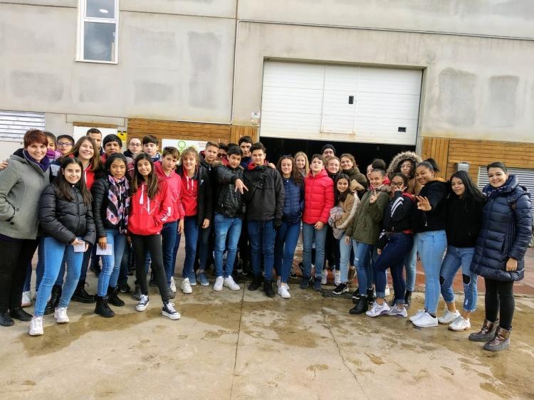 REBI SLU: Treinta alumnos de 3º de la ESO del Trilema visitan la central de la Red de Calor de Soria